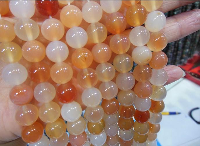 6 mmナチュラル宝石の丸いピンクの瑪瑙ビーズDIYジュエリーネックレスブレスレットの製造
