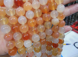 Herstellung von perlen online-8 mm natürlicher Edelstein runder rosa Achat Perlen DIY Schmuck Halskette Armband für die Herstellung