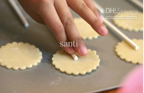 Populaire hot diy food grade 10 cm chocoladestick, papier lolly sticks, cake knalt papier sticks, cookie stick