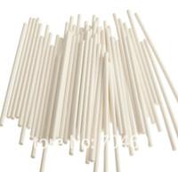 Wholesale White Chocolate Sticks - 6 inch White chocolate stick, paper lollipop sticks, cake pops paper sticks, cookie stick, 3.5*150mm