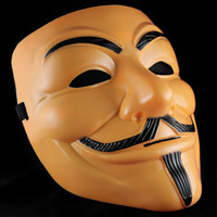 Livraison gratuite Couleur Orange 50pcs EMS Scary V-Vendetta masques Rubie Costume Guy Fawkes masque de film de cosplay