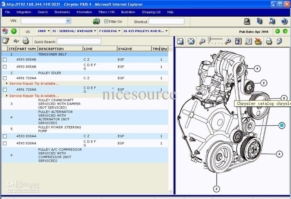 Chrysler Usa Europe International Electronic Parts Catalog 2012 Rhdhgate: Electronic Parts Catalog At Gmaili.net