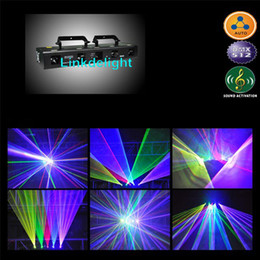 Wholesale Dhl Dj Laser - DHL RGBPY 900mw Red Green Blue Purple Yellow Five Tunnel Laser beam DJ Light Disco Stage Lighting