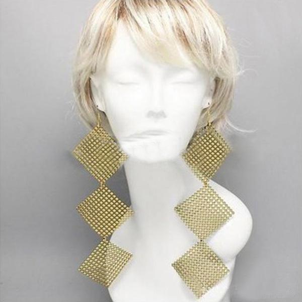 농구 아내 bling 큰 구슬 광장 연결 대나무 패션 크리스탈 poparazzi 귀걸이 50 파이