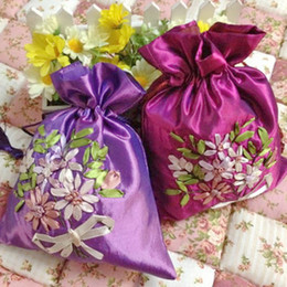 Wholesale Orange Favor Bags - Ribbon embroidery handmade candy bags  gift bags   jewelry bag   candy hi egg bags   goodie bags 441