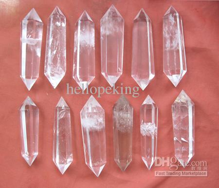 Natural Clear Quartz Crystal DT Wand Point Healing