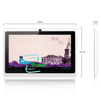 externer bildschirm q88 großhandel-7 Zoll A13 Tablette PC Q88 Doppelkamera-kapazitiver Schirm 512M 4GB Unterstützung externes Modem 3G 10pcs / lot