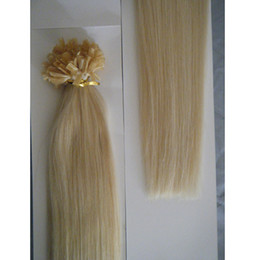 """Wholesale Hair Extension S - MIRACLE 100g 1g s Indian remy Nail U tip REMY hair extensions 18"""" 20"""" 22"""" 24"""" 60# platinum blonde DHL fast shipping"""