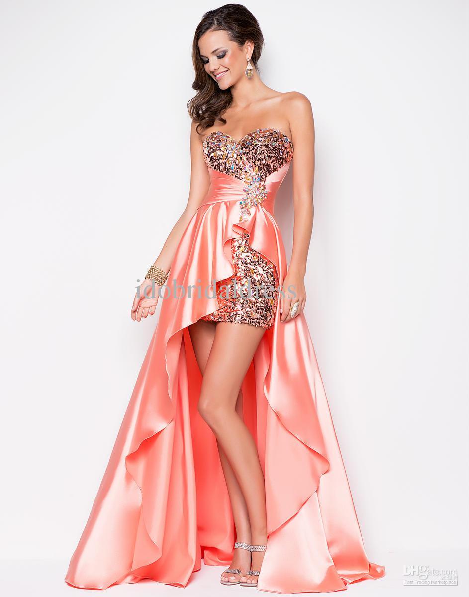 Short back long front dress