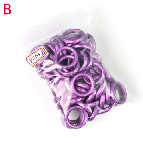 Fashion colors CCB rings for DIY Jewelry scarf rings Charms,DIY Necklace scarves findings mixed colors PT-614