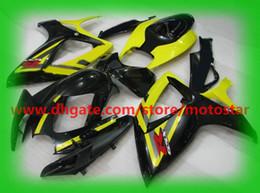 Abs Molding Canada - For SUZUKI GSXR 750 600 K6 2006 2007 OEM Injection molding GSX-R600 GSXR750 06 07 GSX R600 yellow black ABS fairings K6B