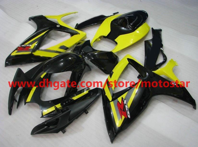 För Suzuki GSXR 750 600 K6 2006 2007 OEM Inkastgjutning GSX-R600 GSXR750 06 07 GSX R600 Gul Svart ABS Fairings K6B