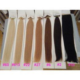 "Wholesale Ash Hair Extensions - MIRACLE 100g 22# ash blond Indian Remy hair Human Skin Weft Tape in Hair Extensions 18"" 20"" 22"" 24"" in stock"