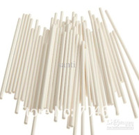Wholesale Christmas Cookies Chocolate - 6 inch White chocolate stick, paper lollipop sticks, cake pops paper sticks, cookie stick, 3.5*150mm