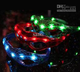 2019 decorazione flash Occhiali flash LED / vetri decorativi / maschere Spider-Man / maschere natalizie decorazione flash economici