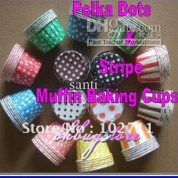 Cupcakes Mix NZ - MIX COLORS round Paper muffin cases, cake cups ,cupcake cases ,bake cup,cupcake wrappers