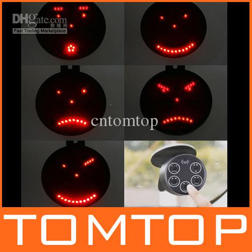 Drive Motion Wireless Led Light Funny Face Car Message Sign Led Car Signal Light Remote Control