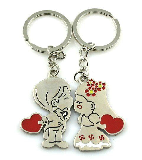 angel kiss personalized keychains alloy lover couples keychains