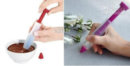 Icing Decorator Syringe Canada - Cake Biscuit Cookie Pastry Icing Decoration Syringe Chocolate Plate Pen Desserts