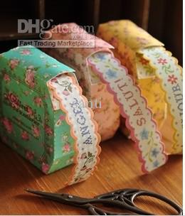 top popular Washi Masking Tape Paper decoration Flowers stickers Stationery Colorful Sticky Box 2021