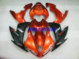 Wholesale R1 Orange Fairings - Motorcycle Fairing kit for YAMAHA YZF-R1 YZF R1 2004 2005 2006 YZFR1 R1 04 05 06 ABS Orange black Fairings set+7gifts