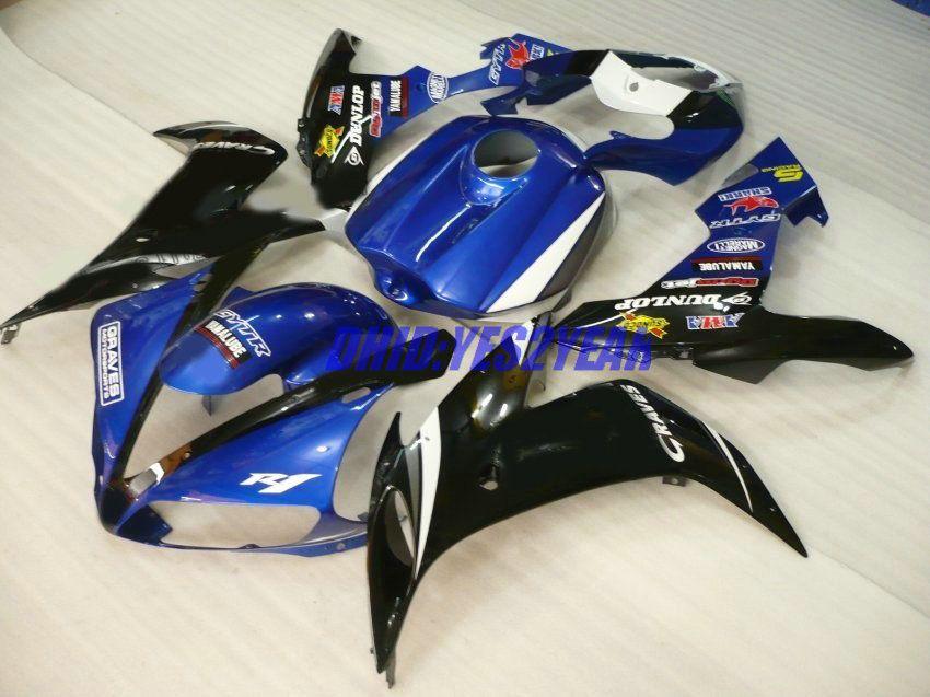 Kit de cuerpo de carenado Para YAMAHA YZF-R1 YZF R1 2004 2005 2006 Carrocería YZFR1 R1 04 05 06 Carenados azul negro set + 7gifts