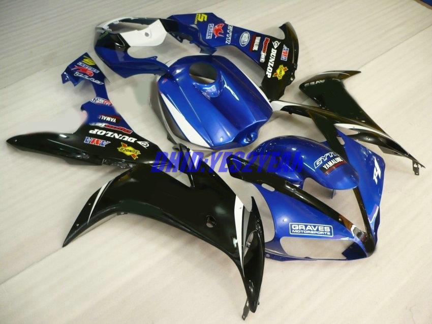 Fairing Body Kit för Yamaha YZF-R1 YZF R1 2004 2005 2006 Bodywork YZFR1 R1 04 05 06 Blue Black Fairings Set + 7Gifts
