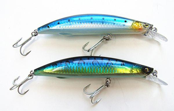 32g 13cm Fiske Lure Minnow Bait VMC Hook Hård Plast Fiske Lure För Sea Lake Fiske Flytande 6 färger