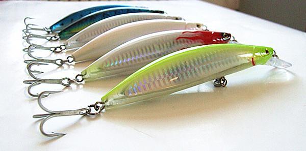 32g 13 cm leurre de pêche minnow appât vmc crochet dur en plastique leurre de pêche pour la pêche au lac de mer flottant 6 couleurs
