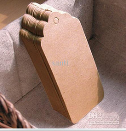 Wholesale Kraft Table Numbers - 350GSM Scallop Kraft Blank Hang tag with rope, Retro Gift tag, Table Number cards Kraft Tag tags