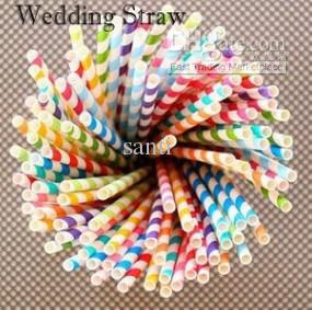 Cannucce Party Paper, Vintage, Retro paper straw straw 60 colori opzionali