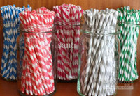 Wholesale Vintage Retro Paper Straw - wedding Straws 60 colors Biodegradable - Paper drinding straws ,Retro Vintage Style Durable
