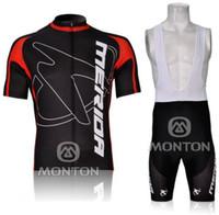 merida jersey vermelho venda por atacado-2012 MERIDA BlackRed M09 de Manga Curta Ciclismo Jersey Desgaste Da Bicicleta + BIB ShortS KIT A013 Tamanho XS-4XL