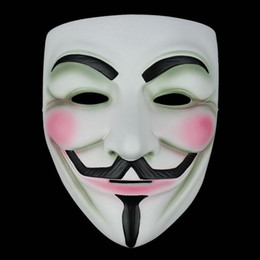 Wholesale Vendetta Resin - Movie V Mask For Vendetta Anonymous Mascara Mask Cosplay Face Guy Fawkes Resin Masks Party Masquerade Scary Fancy Costume Props