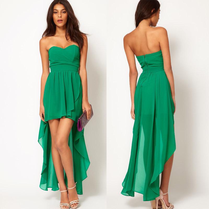 Sweetheart Green Short Dress
