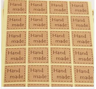"top popular Brown sealing stickers,""hand made"", Seals Stickers,kraft paper seal sticker, gift stickers 2021"