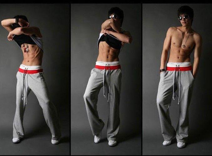 Pantaloni sportivi maschili da uomo in omaggio da uomo Pantaloni casual da uomo più pantaloni larghi pantaloni maschili