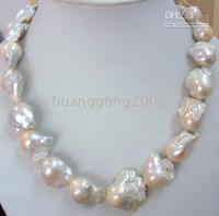 ingrosso collana di perle di mare naturale-FINE PERLINE GIOIELLI ENORME 20