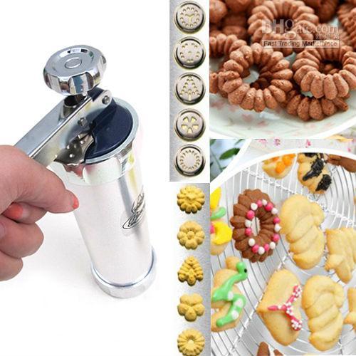 2020 Cookie Press Machine Biscuit Maker Decorating Gun Kitchen ...