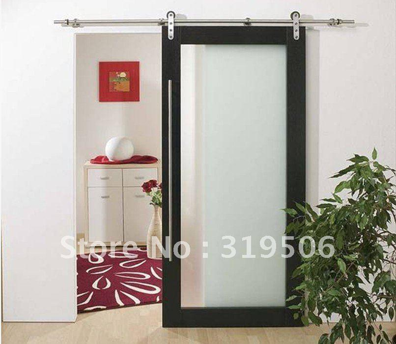 elegant stainless steel barn door hardware with free shipping