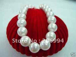 Wholesale Necklace Pearl Big Shell - Wholesales big!!! 14mm white south sea shell pearl necklace pearl Jewelry fashion jewellery, free shipping