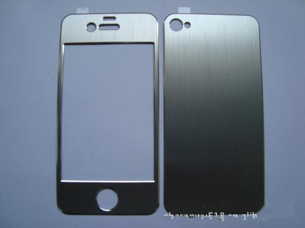 online store 3ce04 68e0a 2019 New Aluminum Metal Full Body Sticker Cover Skin Front And Back Brushed  Protector For Iphone 4 4S EMS From Wolf5, &Price;   DHgate.Com