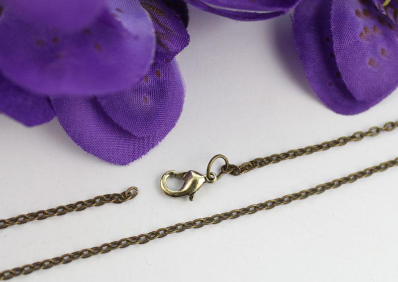 12 stks antiqued brons 3.2x2.2mm link kabel ketting kettingen # 22495