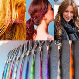Wholesale Purple Hair Extension Clips - Handmade braid headband feather hair extensions clips hairpin wig AS1