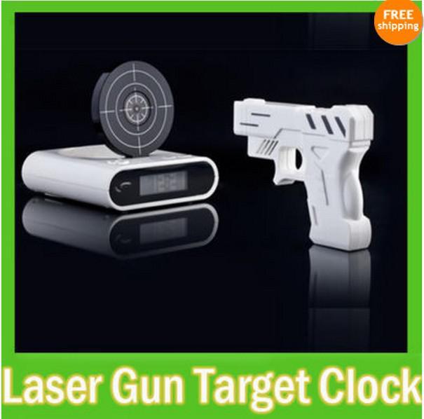 Gun Alarm Clock Target Wake Up Shooting Game Toy Novelty: 2019 Novelty LCD Laser Gun Shooting Target Wake UP Alarm