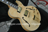 Wholesale jazz guitars natural - Custom JAZZ 175 natural Tiger Electric Guitar free shipping