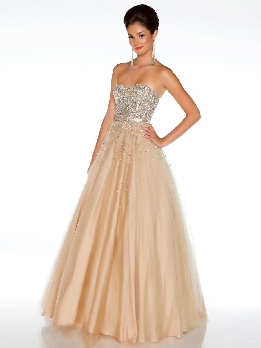 Peacock Tulle Prom Dress