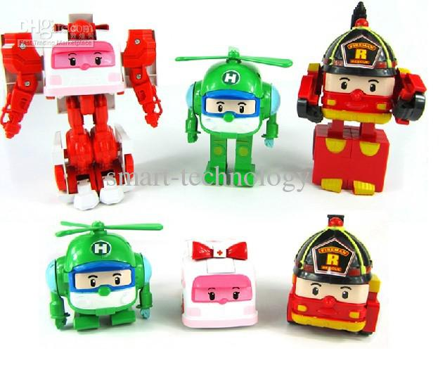 Deformation super lovely robocar poli robot deformation - Robot car polly ...
