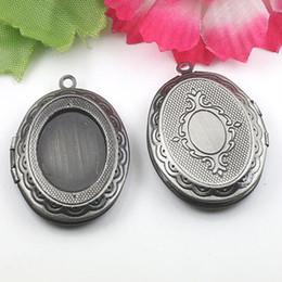 Vintage silber-medaillons online-Antik Silber Vintage Charms, Medaillon Anhänger, Dispensing, Doming, Kameen, viktorianischen Stil, DIY Schmuck, A