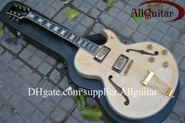 Wholesale Jazz Guitars Natural - natural 137 jazz Hollow electric guitar new arrival